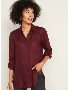 Drapey Polka Dot Tunic Shirt For Women by Old Navy