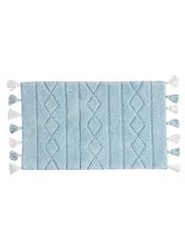 Diamond Stripe Blue Bath Rug With Tassels by Pier1 Imports