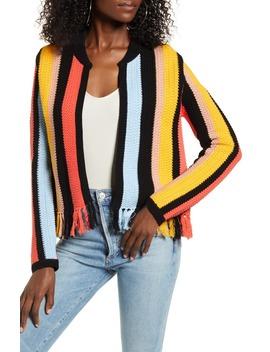 Stripe Knit Jacket by English Factory