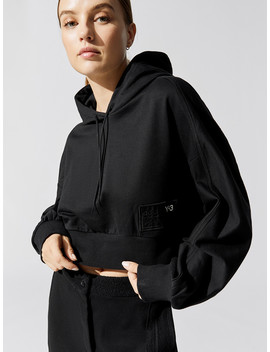 Women's Stacked Badge Cropped Hoodie by Y 3