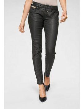 Herrlicher Slim Fit Jeans »Touch Slim« In Leder Optik by Herrlicher