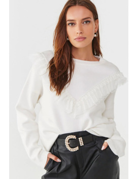 Tiered Lace Trim Sweater by Forever 21