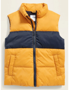 Frost Free Quilted Puffer Vest For Boys by Old Navy