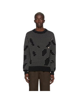 Black Splash Sweater by L'homme Rouge