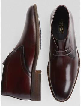 Moretti Burgundy Chukka Boots by Moretti