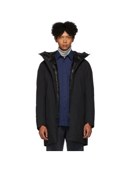 Black Down Monitor Coat by Veilance