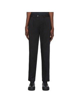Black C2 C Tradition Trousers by L'homme Rouge