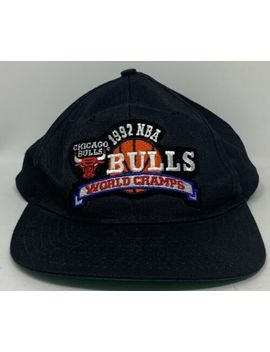 Vintage Chicago Bulls 1992 Nba World Champs Snapback by Ebay Seller