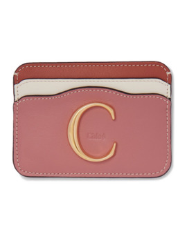 Chloé C Color Block Leather Cardholder by Chloé