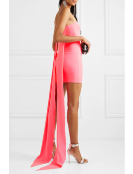 Turner Strapless Draped Crepe Mini Dress by Alex Perry