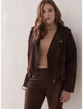 Belted Suede Moto Jacket   Blank Nyc Belted Suede Moto Jacket   Blank Nyc by Addition Elle