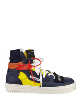 Men's 3.0 Exclusive Leather High Top Sneakers by Off White