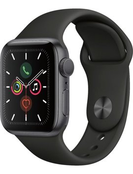 Apple Watch Series 5 (Gps) 40mm Space Gray Aluminum Case With Black Sport Band   Space Gray Aluminum by Apple