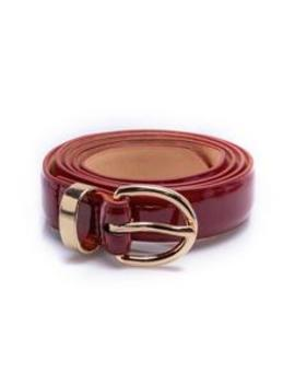 Classy Patent Skinny Belt   Wine by Fashion Nova