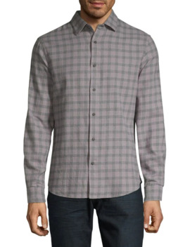 Gingham Long Sleeve Shirt by Black Brown 1826