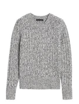 Marled Wool Blend Sweater by Banana Repbulic