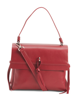Made In Italy Trip Entry Leather Satchel by Tj Maxx