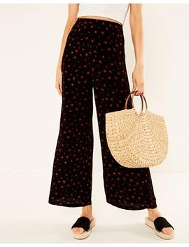 Floral Wide Leg Pant by Glassons