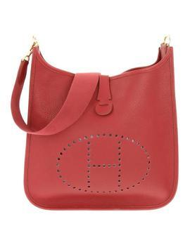 Evelyne Rouge 230458 Red Leather Shoulder Bag by Hermès