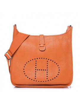 Hermes Taurillon Clemence Evelyne Iii Gm Orange by Hermes