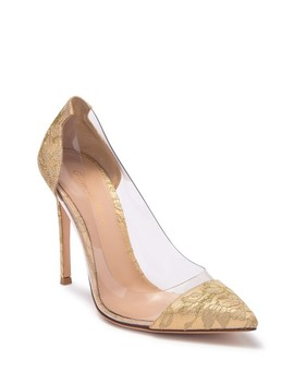 G Rossi Fatale Plexi Mekong Pointed Toe Stiletto Pump by Gianvito Rossi