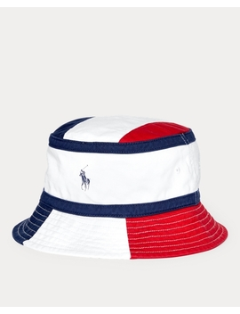 Color Blocked Bucket Hat by Ralph Lauren