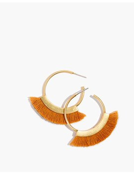 Fringe Hoop Earrings by Madewell