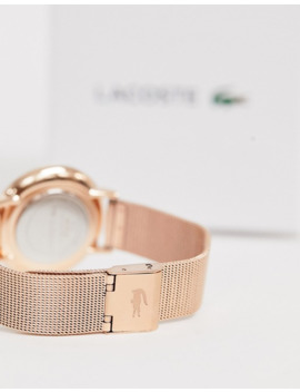 Lacoste Womens Moon Mesh Watch In Rose Gold by Lacoste