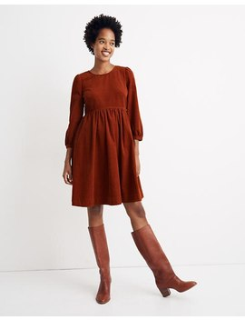 Corduroy Puff Sleeve Mini Dress by Madewell