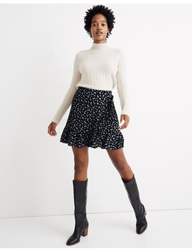Ruffle Wrap Mini Skirt In Baby's Breath by Madewell