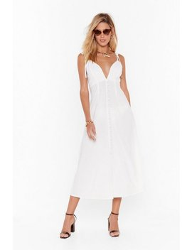 Tie To Dig Deep Button Down Midi Dress by Nasty Gal
