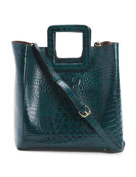 Leather Croco Embossed Tote by Tj Maxx