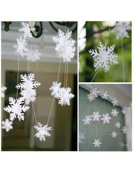 3 D Snowflake Bunting Garland Hanging Christmas Party Decoration by Unbranded