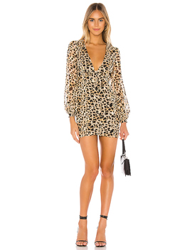 Julissa Mini Dress In Leopard by Privacy Please
