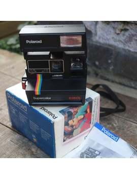 Vintage Polaroid Supercolor 635 Cl Camera by Etsy
