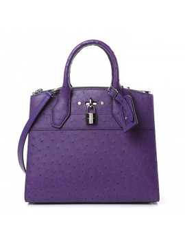 Louis Vuitton Ostrich City Steamer Pm Amethyst by Louis Vuitton