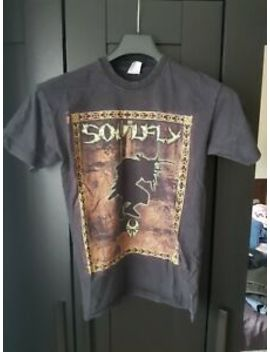 Soulfly Vintage Rare Sought After T Shirt With Jumpdaf**Kup Lyrics Reverse by Ebay Seller
