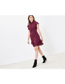 Frill Skater Dress by Oasis