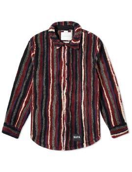 Napa By Martine Rose Stripe Fleece Overshirt by Napa By Martine Rose