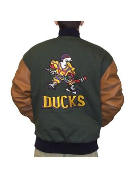 Gordon Bombay Jacket Mighty Ducks Movie Varsity Letterman Hockey Costume Coach by My Party Shirt