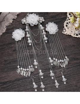 Chinese Women Earrings And Hair Clips Step Shake Alloy Tassel Hair Accessories by Ali Express.Com