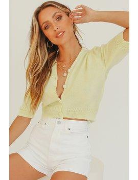Coral Crush Button Front Knit Top // Lemon by Vergegirl