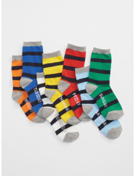 Kids Stripe Days Of The Week Socks (7 Pack) by Gap