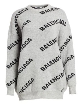 Wool Blend Logo Sweater by Balenciaga