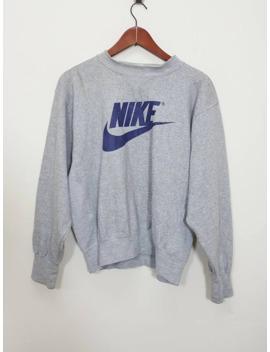 Vintage Nike Swoosh Crewneck 90s Style Longsleeve Sweatshirt 90s Style by Nike  ×  Vintage  ×