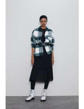 格紋襯衫式外套 by Zara