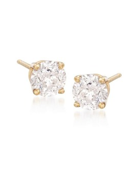 14 K Yellow Gold Cz Stud Earrings by Nordstrom Rack