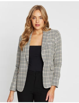Check Single Breasted Jacket by Dorothy Perkins