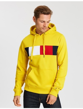 Flag Chest Hoodie by Tommy Hilfiger