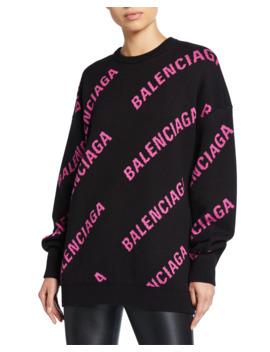 Crewneck Logo Sweater by Balenciaga